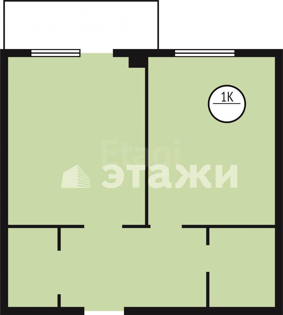 Продажа 1-комнатной квартиры, Красноярск, Тотмина,  1а