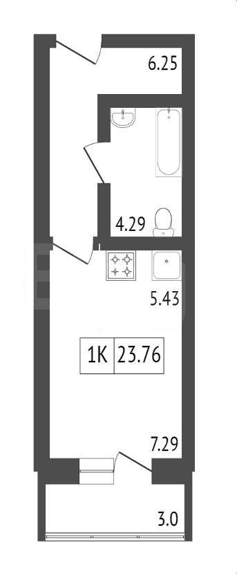 Продажа 1-комнатной новостройки, Красноярск, Калинина,  ЖК Мариинский дом 9.2 (Глобус-ЮГ)
