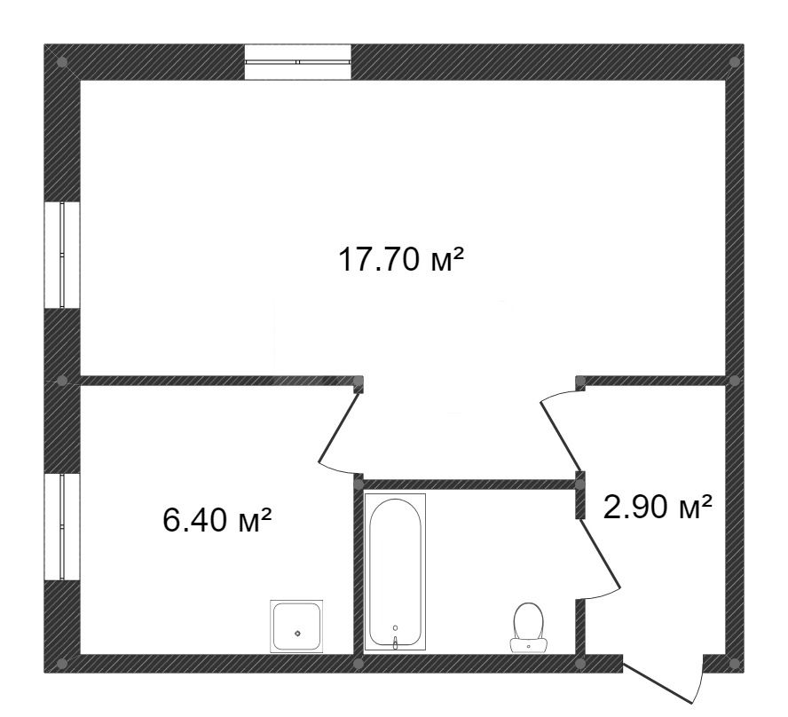 Продажа 1-комнатной квартиры, Красноярск, Красная площадь,  1