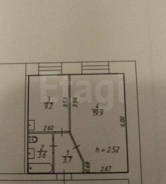 Продажа 1-комнатной квартиры, Красноярск, 60 лет образования СССР пр-т,  66