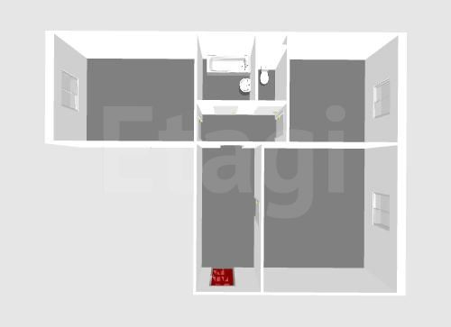 Продажа 2-комнатной квартиры, Красноярск, Мужества,  20