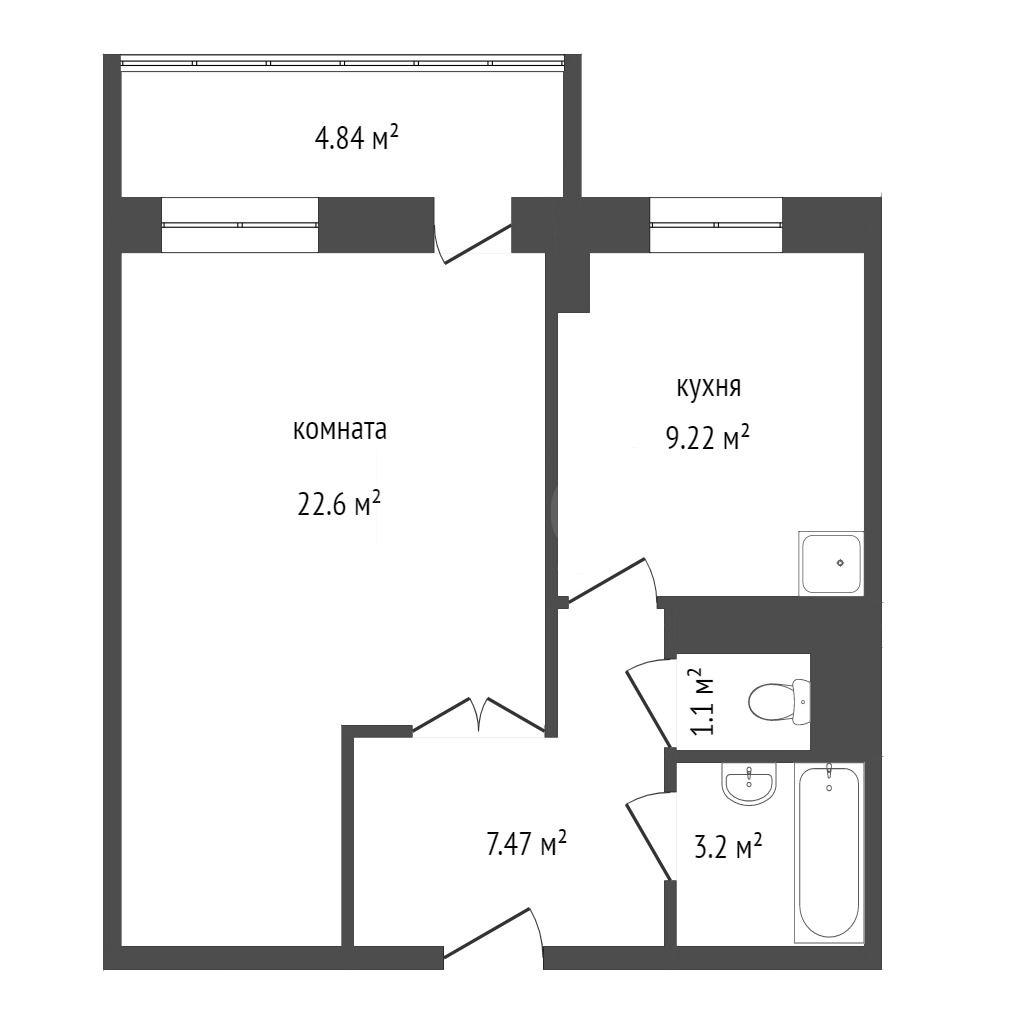 Продажа 1-комнатной квартиры, Красноярск, Республики,  37а