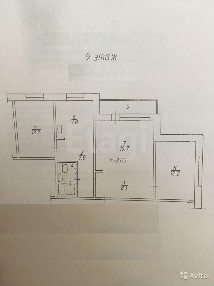 Продажа 3-комнатной квартиры, Красноярск, Алексеева,  111