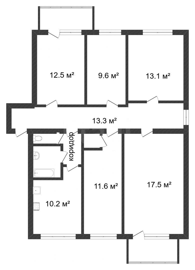 Продажа 5-комнатной квартиры, Красноярск, 52 квартал,  8