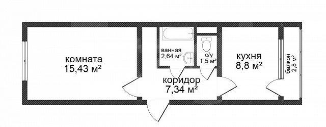 Продажа 1-комнатной квартиры, Красноярск, 40 лет Победы,  26