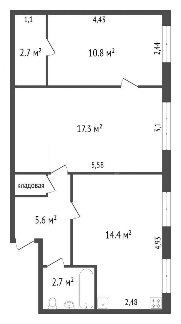 Продажа 3-комнатной квартиры, Красноярск, Свердловская,  29