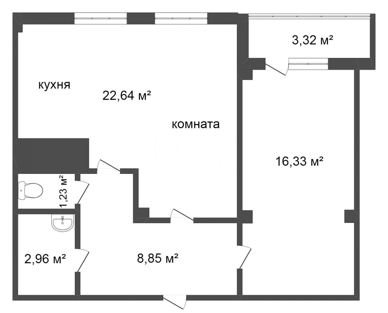 Продажа 2-комнатной квартиры, Красноярск, Соколовская,  70
