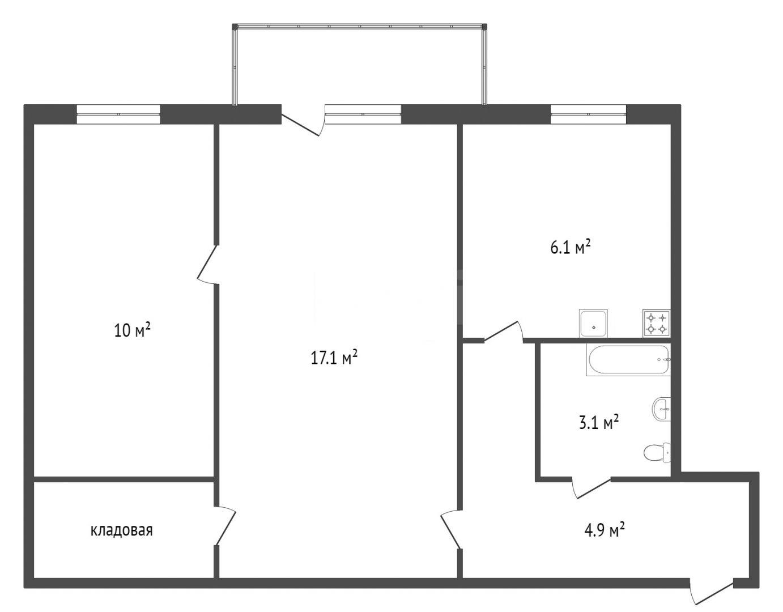 Продажа 2-комнатной квартиры, Красноярск, Аэровокзальная,  4б