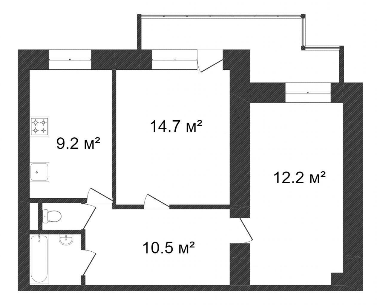 Продажа 2-комнатной квартиры, Красноярск, Ады Лебедевой,  66