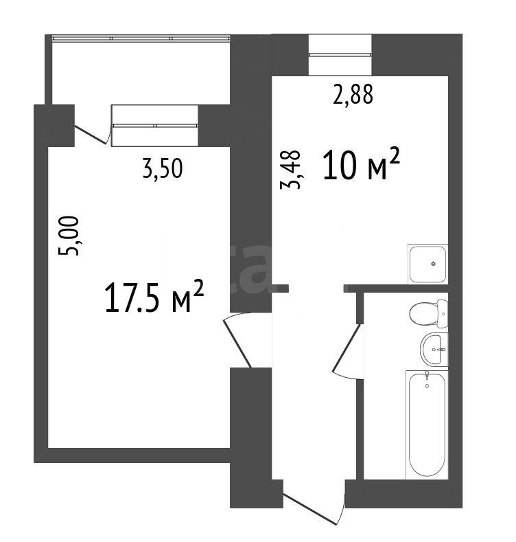 Продажа 1-комнатной квартиры, Красноярск, Красномосковская,  3