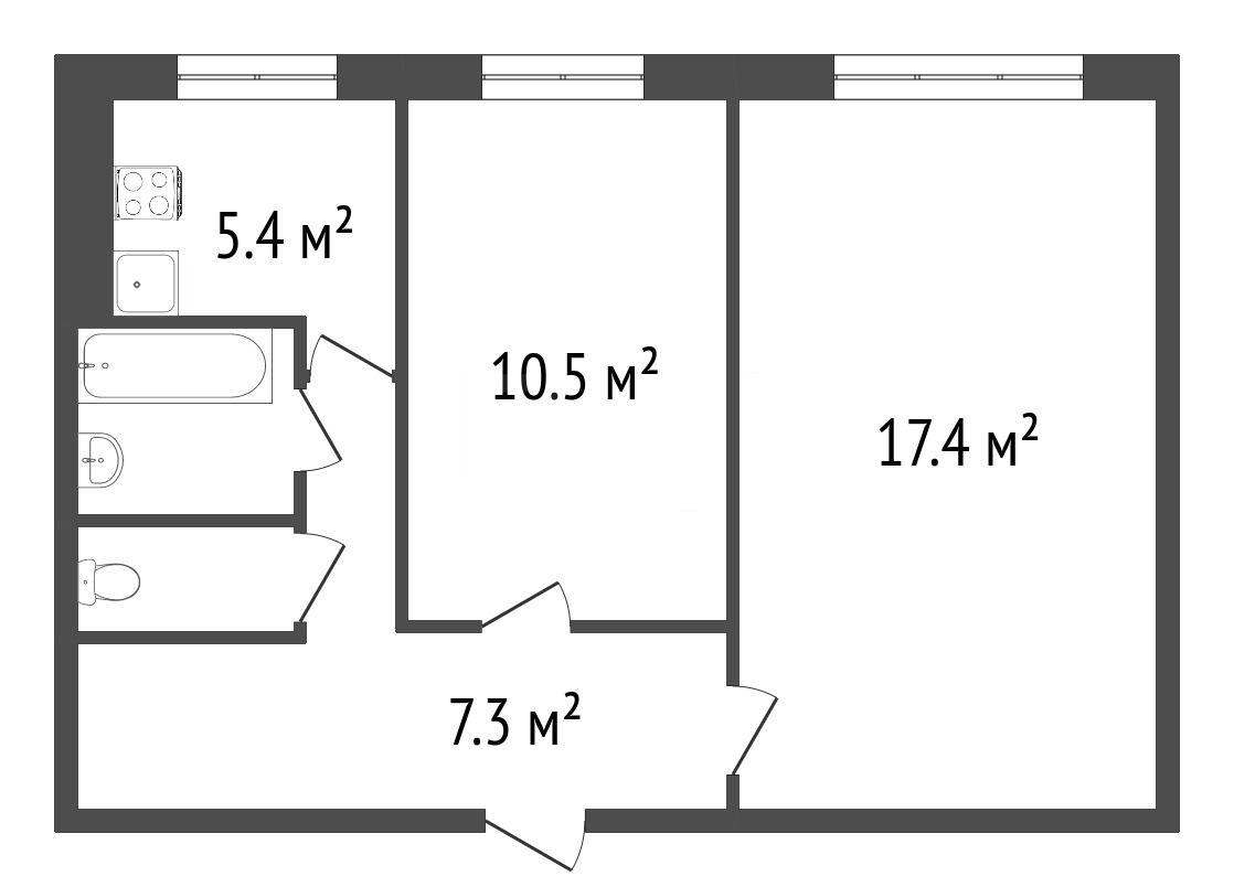 Продажа 2-комнатной квартиры, Красноярск, Карбышева,  8