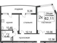 Продажа 2-комнатной новостройки, Красноярск, Петра Ломако,  ЖК Преображенский