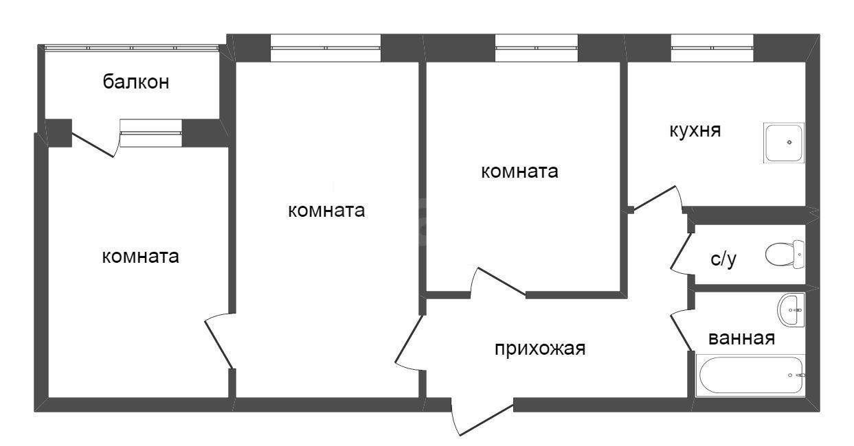 Продажа 3-комнатной квартиры, Красноярск, Железнодорожников,  10а
