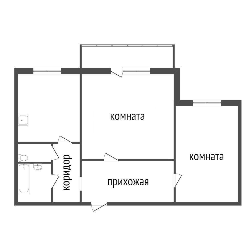 Продажа 2-комнатной квартиры, Красноярск, Ястынская,  13