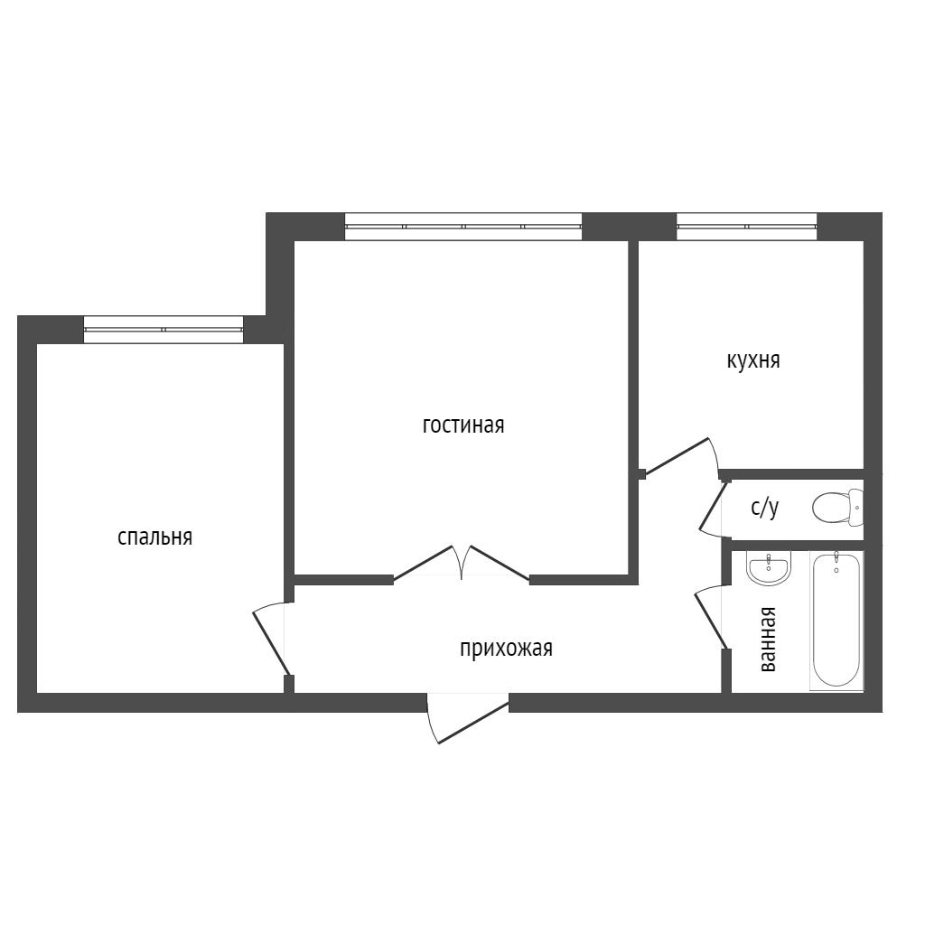 Продажа 2-комнатной квартиры, Красноярск, Сергея Лазо,  36