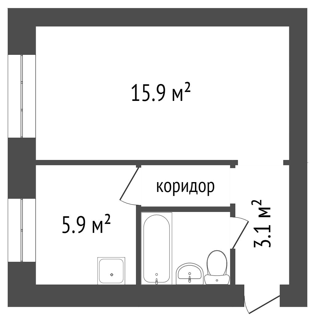 Продажа 1-комнатной квартиры, Красноярск, Крупской,  4