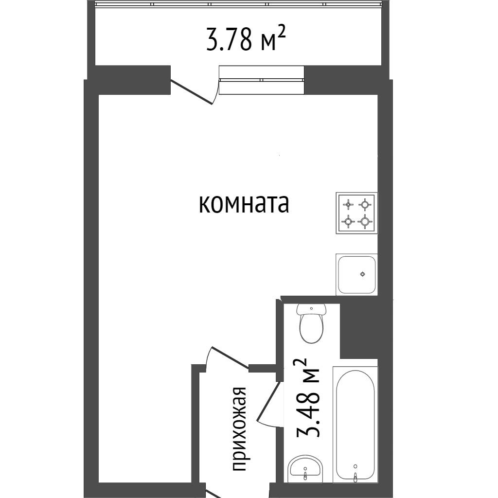 Продажа 1-комнатной квартиры, Красноярск, Чернышевского,  110